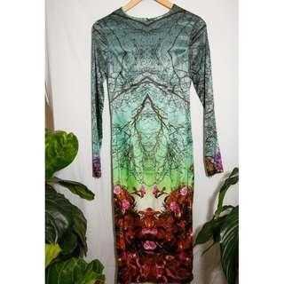 ASOS Josh Goot Printed Dress - size 10