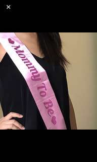 Mommy to be sash