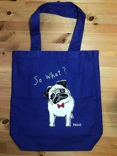 八哥Tote Bag (藍色)