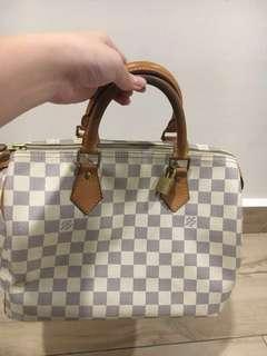 Authentic Louis Vuitton Speedy 30 Damier Azur #midmay75