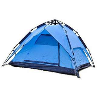 4 Person Double Layer waterproof Tent (Blue)