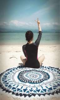 Li Ning long-sleeved sun protection swimwear / conservative Siamese triangle