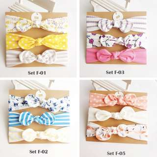 3pcs set cotton headband SET-F-01-07