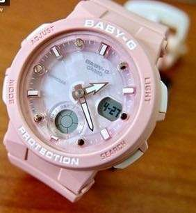 NEW 🌟ARRIVAL BABYG DIVER CASIO SPORTS WATCH : 1-YEAR OFFICIAL WARRANTY: 100% ORIGINALLY AUTHENTIC BABY-G SHOCK-RESISTANT in HAZEL PEACH FRUIT COLOUR BEST FOR MOST SPORTS ROUGH USERS: BGA-250-4ADR / BGA-150CP / BA-110CP / BA-110 / BA110