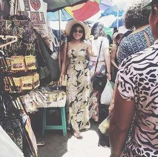 NEW tropical maxi dress