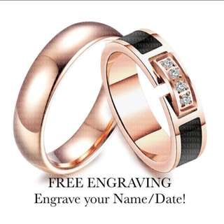 SCPR-114 • ROSE GOLD DREAM Wedding Love Band Rings• FIXED SIZE