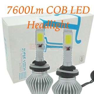 7600lm cob led headlight