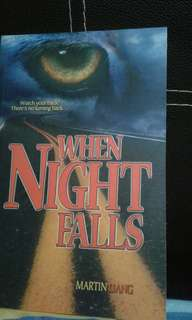 Local book  Horror paranormal ghost  When night falls Martin liang   Add $1 for postage Or pick up hougang buangkok mrt