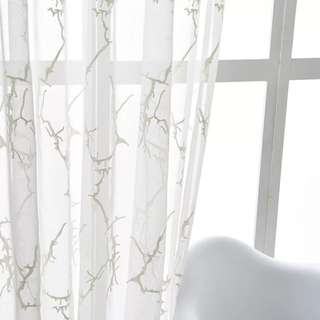 Marble pattern sheer curtain