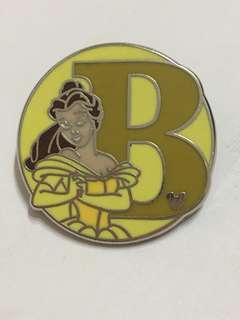 Disney pin Belle 迪士尼徽章