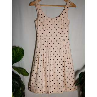 FOREVER NEW   Blush Polkadot Dress - size 8