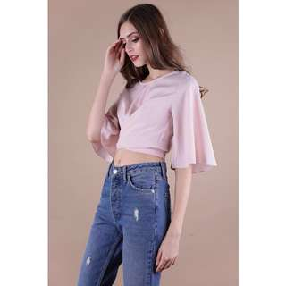 Reduced! The Tinsel Rack Lena Flare Sleeve Top (WHITE)