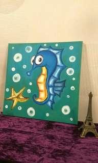 Cute Blue Seahorse