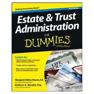 Estate and Trust Administration For Dummies Kindle Edition by Margaret Atkins Munro (Author)