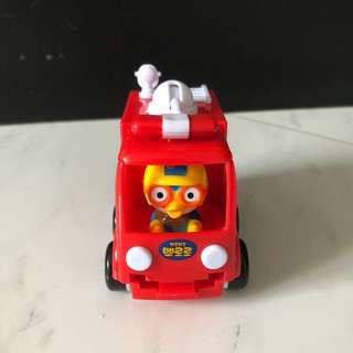 $5 Pororo Fire Truck Engine Car Toy original licensed by korea