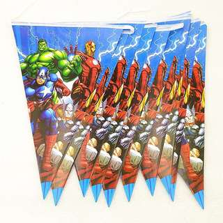 💥 Superheroes Avengers Party supplies - bunting / flag banner / party deco