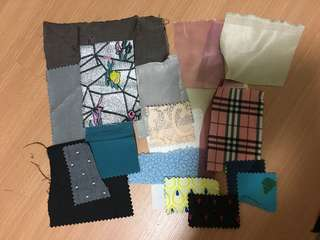 FASHION STUDENTS fabric swatches