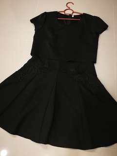 Little Black Dress with simple lace at waist