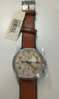 Fossil Men Leather Strap Watches