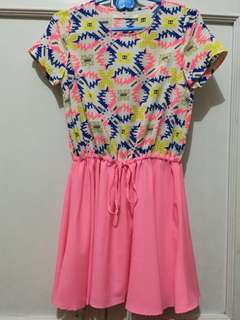 Repriced!!! Neon pink casual dress