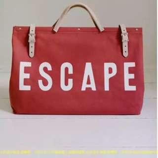 現貨 顏值即正的時代 紅色旅行袋 帆布袋 帆布包 旅行包