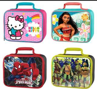Moana Hello Kitty Moana Spiderman School Insulated Lunch Bag for Kids Boy Girls Lunch Box Tote Bag Thermo Cooler Picnic Food Bag