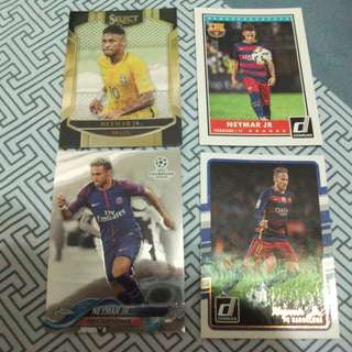 Neymar Topps/Panini trading cards for sale/trade (Lot of 4 cards)
