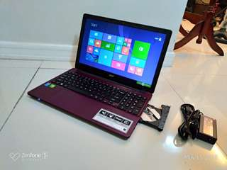 Acer Aspire E5 571G Core i7 Gaming 2GB Nvidia 840M Rendering 1Tera HDD Purple Limited 15.6 inch Slim