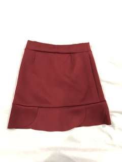 Stylish Maroon Skirt