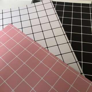 3 pcs Good quality grid paper photo background backdrops