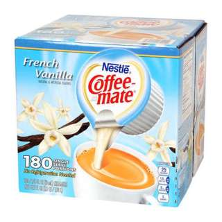 French Vanilla Coffee Mate 180 Single Serve Portions