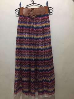 Boho/Aztec Long Skirt