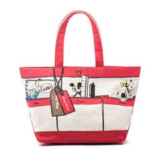 🔆預訂🔆迪士尼 disney 米奇 Mickey Mouse 紅白色 手挽袋 單肩包 帆布袋