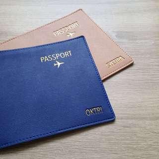 CUSTOM PASSPORT HOLDER saffiano leather