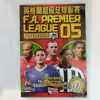 【興趣收藏】2005年英格蘭超級足球聯賽貼紙冊連全套貼紙