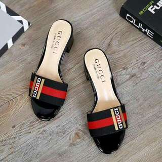 Gucci block heels