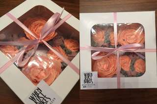 Floral cupcakes box of 4