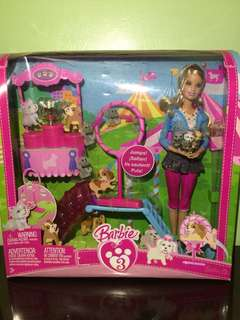 Barbie with puppies