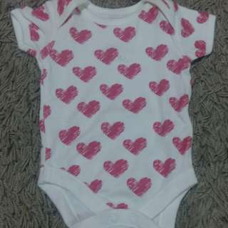 Baby Girl Love Rompers NB