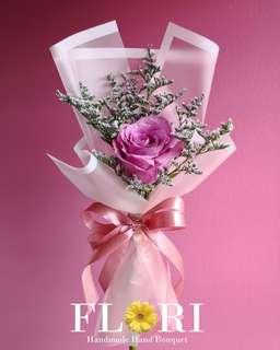 Single Rose Fresh Flower Bouquet