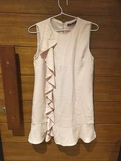 CREAM RUMPLE DRESS