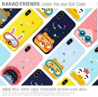 Kakao Friend iphone X手機套軟套韓國直送