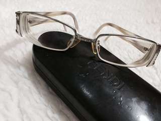 Authentic Fendi Full Rim Silver- Ivory Eyeglasses