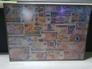 Collection of Singapore banknotes jigsaw puzzle