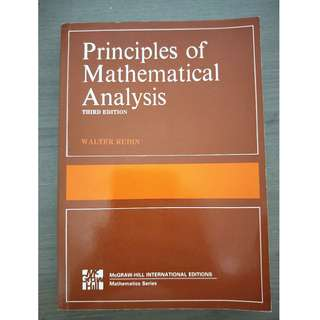 Principles of Mathematical Analysis (Third Edition)