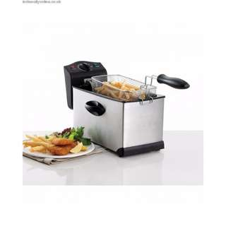 Professional-Style Electric Deep Fryer 1.75L Stainless Steel