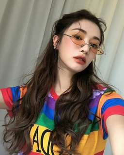 Stylenanda 'TODAY' Rainbow Top