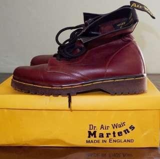 maroon high boots