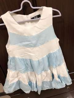 🚚 愛洋裝 藍白相間 背心洋裝 俏皮風