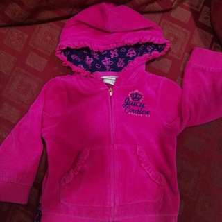 Juicy Couture hot pink sweater with hood